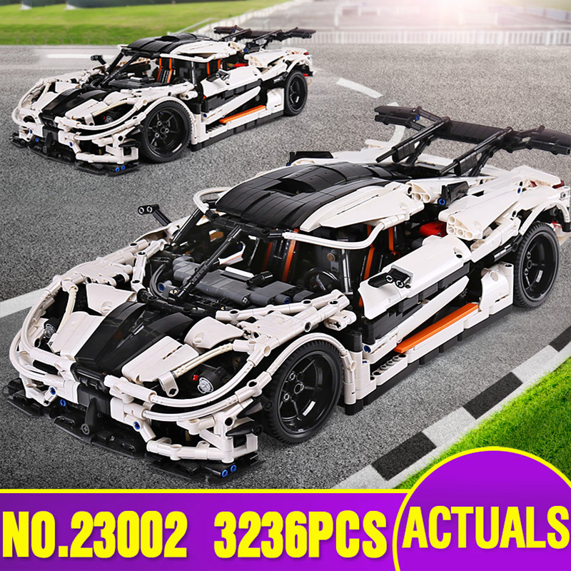 Ship From Spain DHL 23002 Technic Series The MOC 4789 Changing Racing Car Children Building Blocks