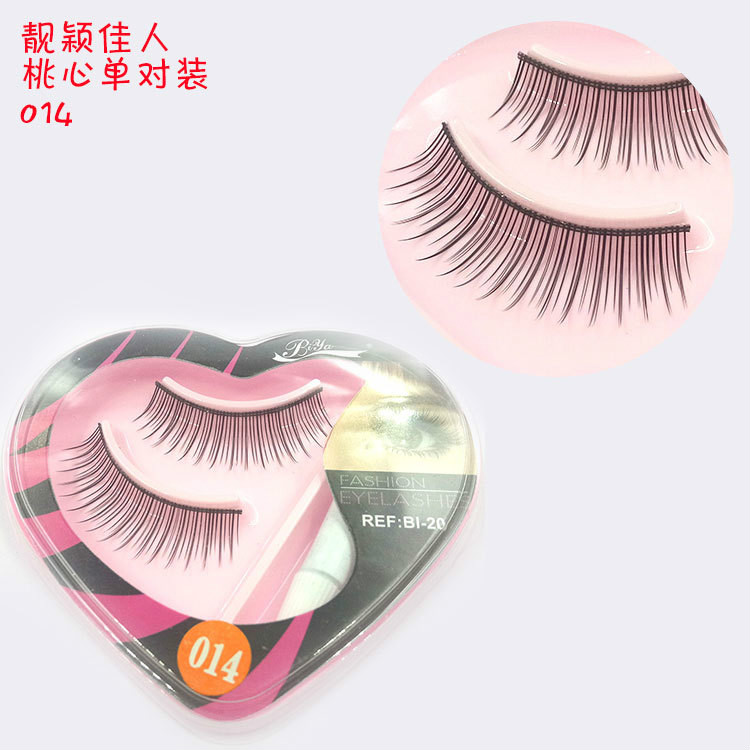 Beauty & Health False Eyelashes 1 Pair Sell Peach Heart False Eyelashes Korea Natural Naked Makeup Long False Eyelash Handmake Eye Lashes Makeup Kit Gift #014