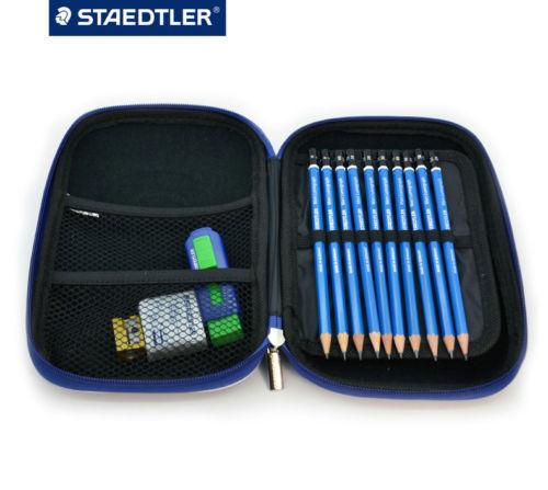 Image 2 - Премиум качество Staedtler 100 Mars Lumograph завершить рисунок Портативный чехол Комплект-in Простые карандаши from Офисные и школьные принадлежности