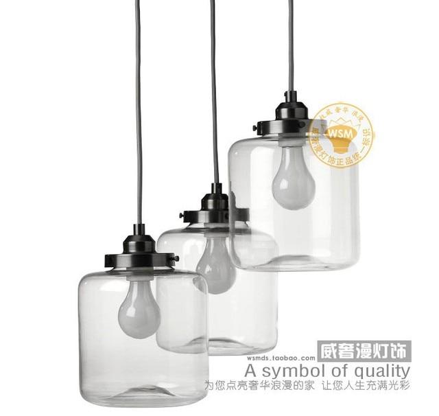 3 Stück Vintage Retro Klarglasflasche Pendelleuchte Einmachglas ...