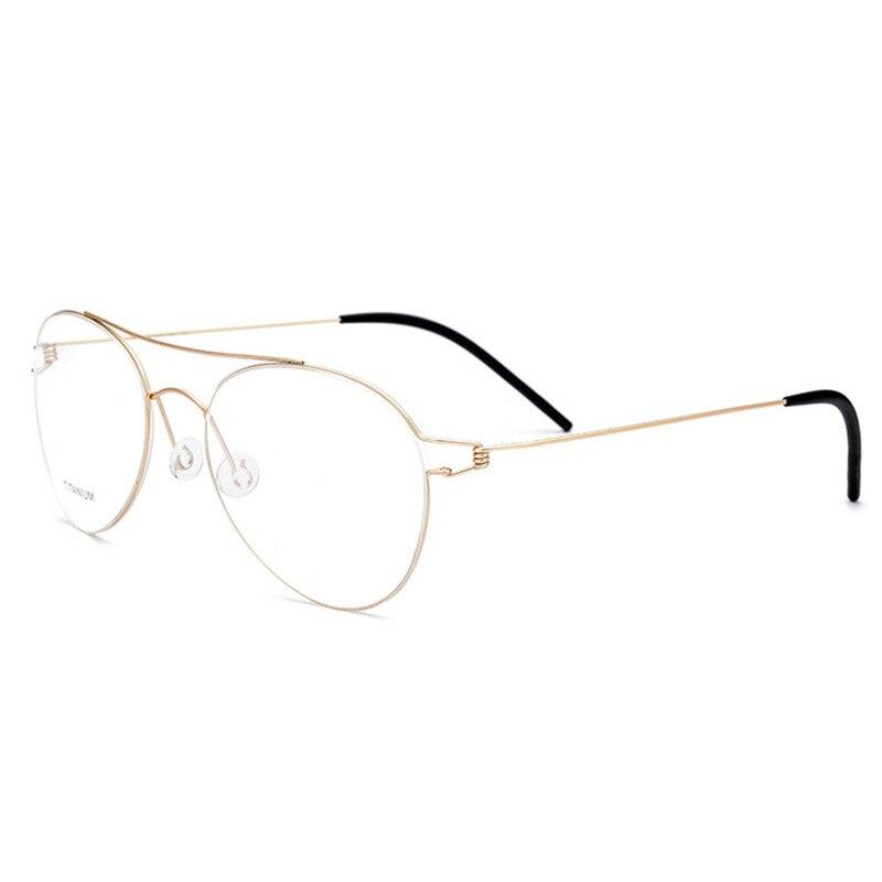 38906eb676 Cubojue No Screw Aviation Spectacles Prescription Men Women Brand Designer  Titanium Eyeglasses Frames Man Woman s Eyeglass Gold-in Eyewear Frames from  Men s ...