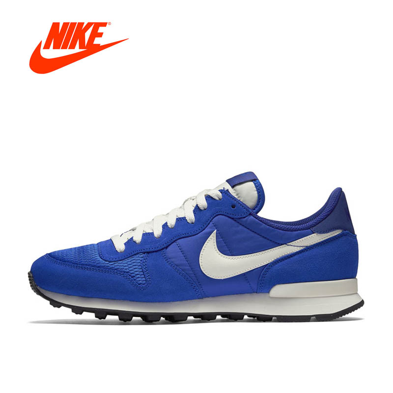Original New Arrival Official Nike CORTEZ Men's Breathable Skateboarding Blue Shoes Sneakers nike original new arrival mens skateboarding shoes breathable comfortable for men 902807 001