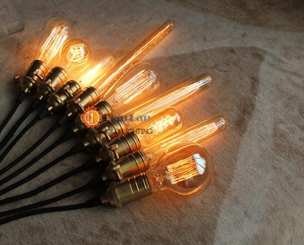 цена оптовой продажи, старинные творческий Эдисон лампы, светильники для incandiscent получил украшения, span, st64 Лампа/А19/телефона g80