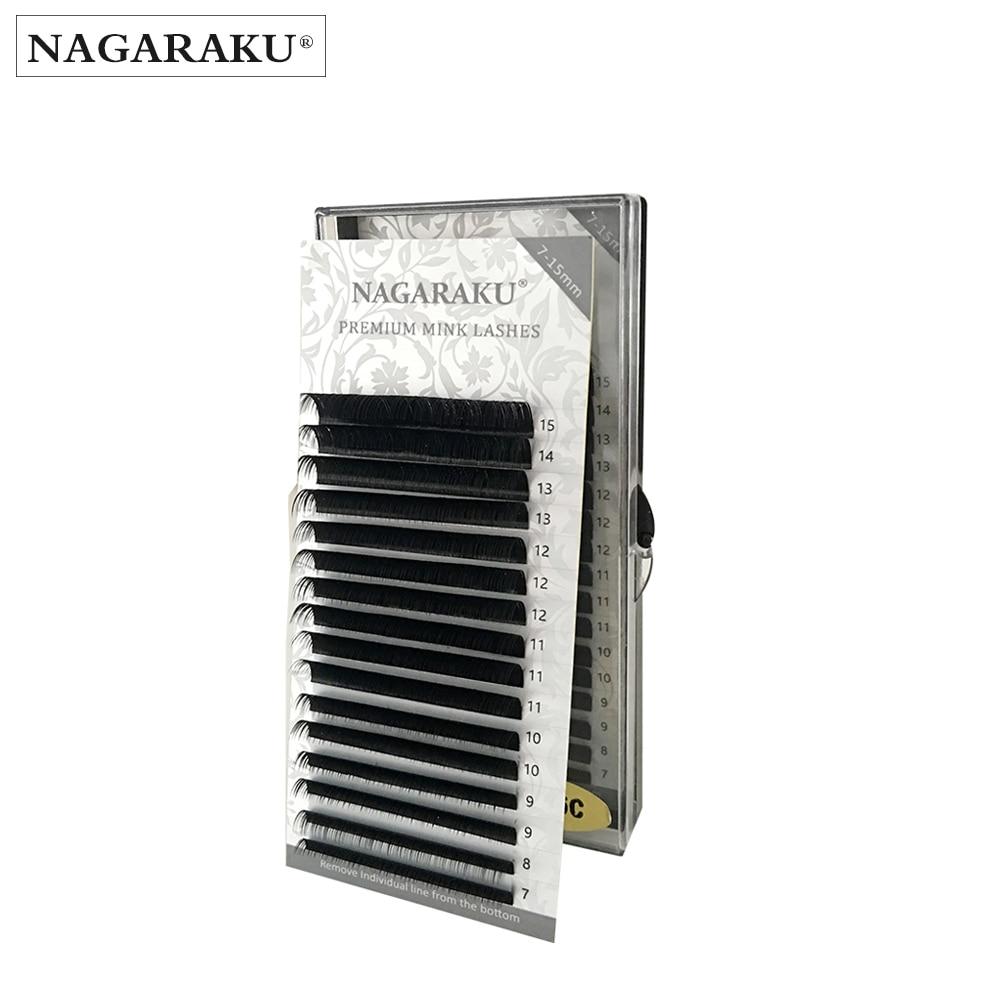 NAGARAKU All size,7~15mm MIX , mink extension eyelashes,nature eyelashes,individual eyelash extension