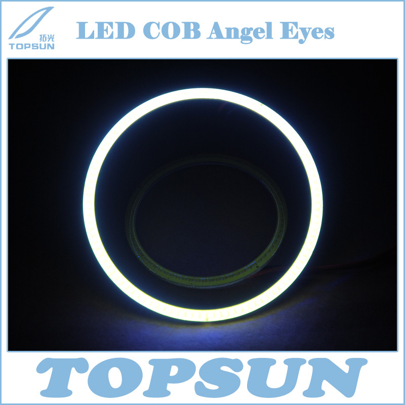 2Pcs 120 mm LED COB Angel Eyes Halo Ring as DRL/Clearance Lamp Universal Use, white red yellow blue green purple