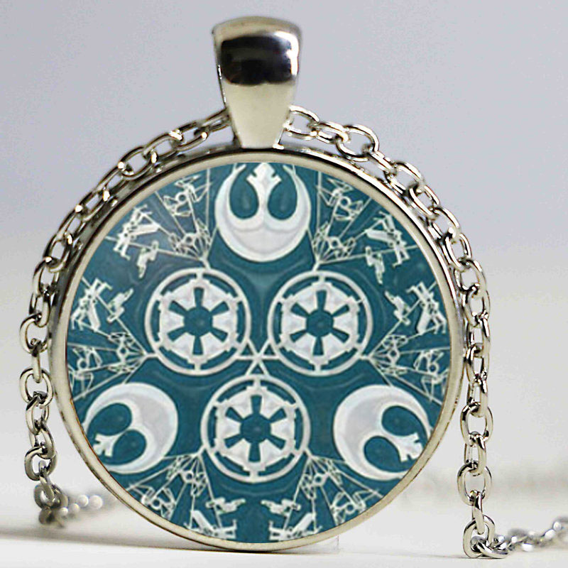 Fashion jewllery Necklace Star Pendant Glass Dome Pendant Necklace for women gift