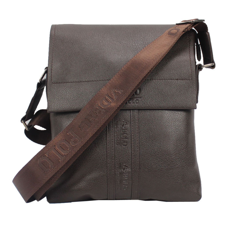 Fashion New Men PU Leather Briefcase Cross Body Messenger Shoulder Business Casu