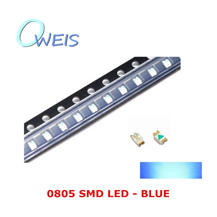 50PCS 0805 super bright BLUE LED 2012 0805 BLUE sign light emitting diode light beads LAMP FREE SHIPPING