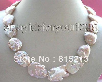 Ddh001494 Naturel Rose Reborn Keshi Collier de Perles