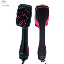 купить One Step Hair Dryer and Volumizer Salon Hot Air Paddle Styling Brush Negative Ion Generator Hair Straightener Curler дешево