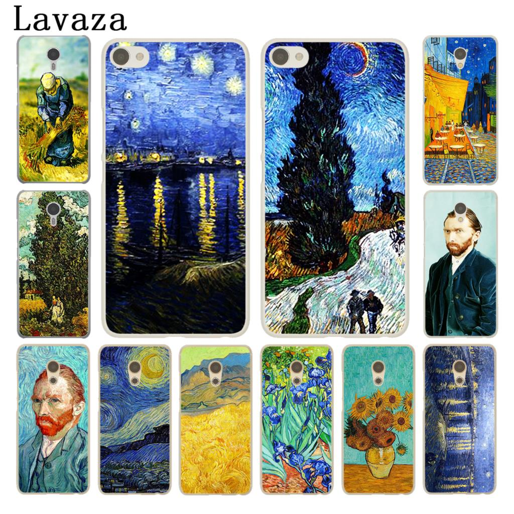 Lavaza Vincent Willem van Gogh Tardis White Cover Case for Meizu M3S M3 M2 Miniu M2 M3 M5 Note M5S U10 U20 Pro 6
