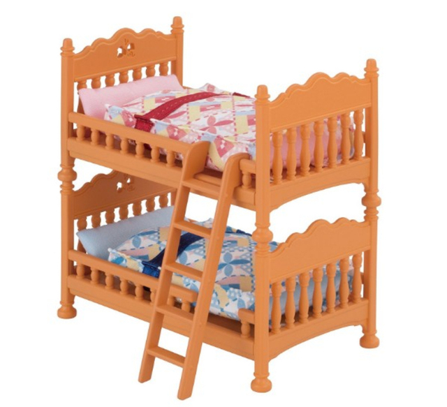 Us 20 68 10 Off 1 Set Original Sylvanian Families House Furniture Bunk Bed Set Miniature Dollhouse Accessories Toy In Furniture Toys From Toys
