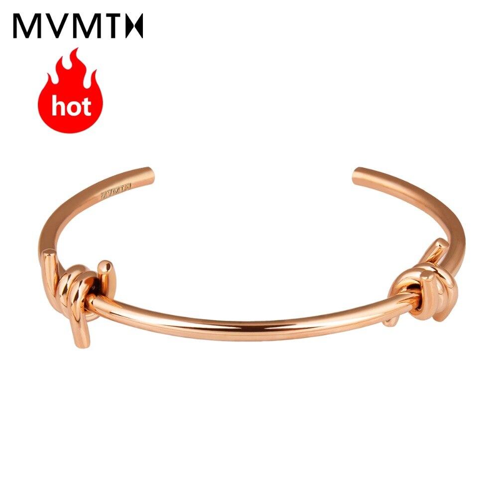 MVMT fashion trend casual vintage elegant lady gold bracelet DOUBLE BARBED CUFF series все цены
