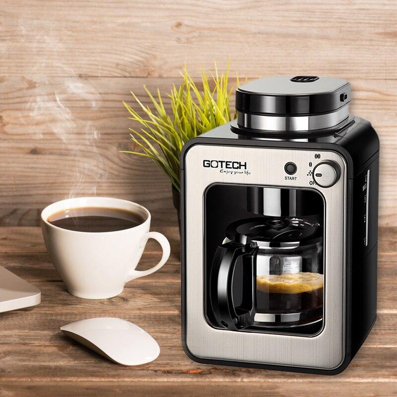 Upper Coffee Grinder Coffee Bean Grinding Function 600W Household Coffee Maker CM6686A Espresso Coffee Making Machine coffee maker household coffee bean grinder