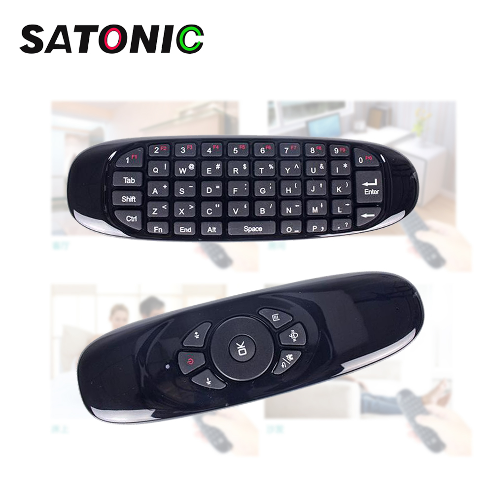 SATONIC C120 Fly Air Mouse Wireless TV BOX Keyboard 2.4G Smart Remote Controller for Android Windows MAC