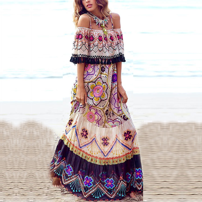 dae4d148f517f Detail Feedback Questions about Summer Dress Wome 2019 Vintage Print ...