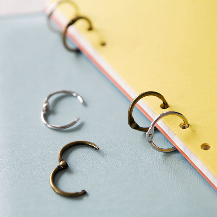 Metal Hand Account Binder Clip Collector 2.5cm Collection Binder Ring Hinged Rings Ring Album Metal Book Rings