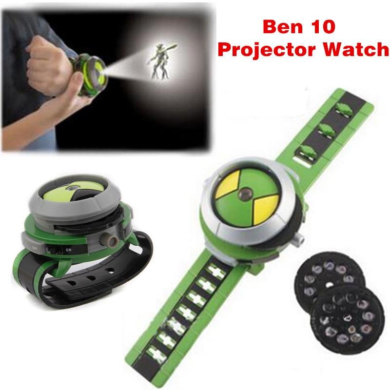 Горячая бен 10 omnitrix часы Стиль Дети Проектор Часы Япония подлинная Бен 10 Смотреть Игрушки Ben10 Проектор Средний Поддержка Падение ДОСТАВКА