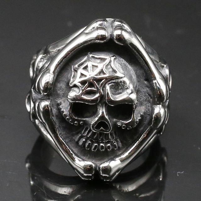 MAGACYADA STEEL BONE Skull RING