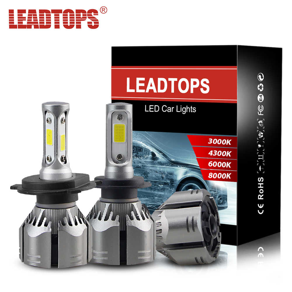LEADTOPS 2pcs H4 Car Headlamps H7 H11 9005 LED 3000K 4300K 6000K 8000K 9006 9006 9012 60W 12V LED Head Lamps CJ