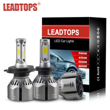 LEADTOPS 2pcs H4 Car Headlamps H7 H11 9005 LED 3000K 4300K 6000K 8000K 9006 9012 60W 12V Head Lamps CJ