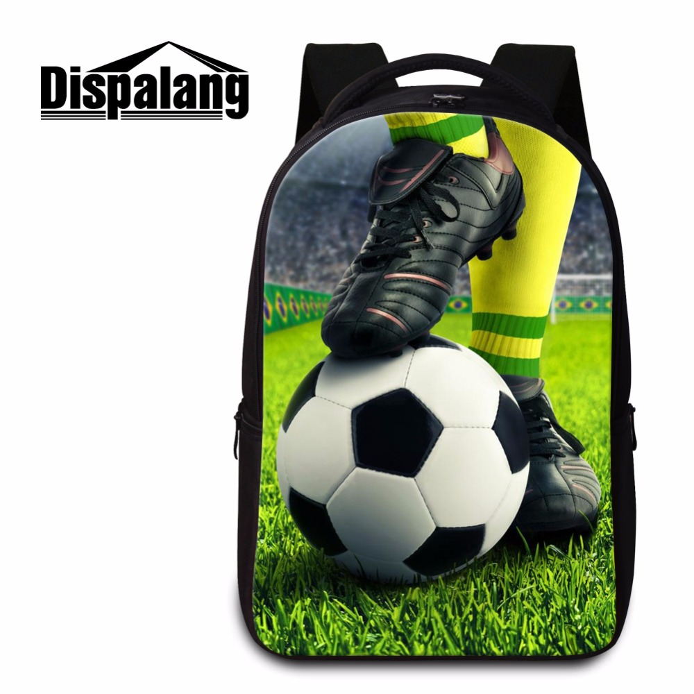 Dispalang Soccerly Backpack Laptop Computer Bookbag for College Students High Class Book Bag Cool Mochilas Footbally