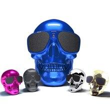 Mini Cool Skull Head Shape Wireless Bluetooth Speaker Subwoofer Halloween Gift