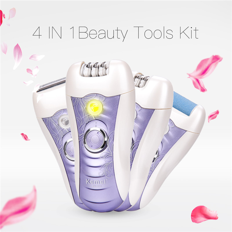 4 In 1 Women Shaver Razor Female Epilator Shaving Machine Callus Remover Lady Hair Removal For Face Bikini Body Leg Underarms