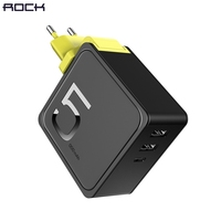 ROCK 5000 MAh 2 In 1 Power Bank With Wall USB Charger For IPhone 6 7