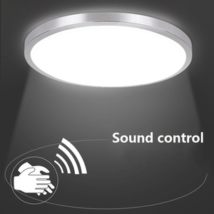 Image 2 - Индукционный светодиодный потолочный светильник с радиолокационным датчиком и звуковым управлением, Lamparas De Techo, ванная комната, лестницы, балкон, прихожая, детская потолочная лампа