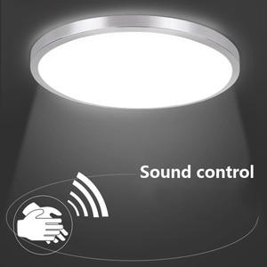 Image 2 - レーダー誘導人間センサーサウンドコントロール Led シーリングライト Lamparas デ手帖浴室階段バルコニー廊下子供天井ランプ