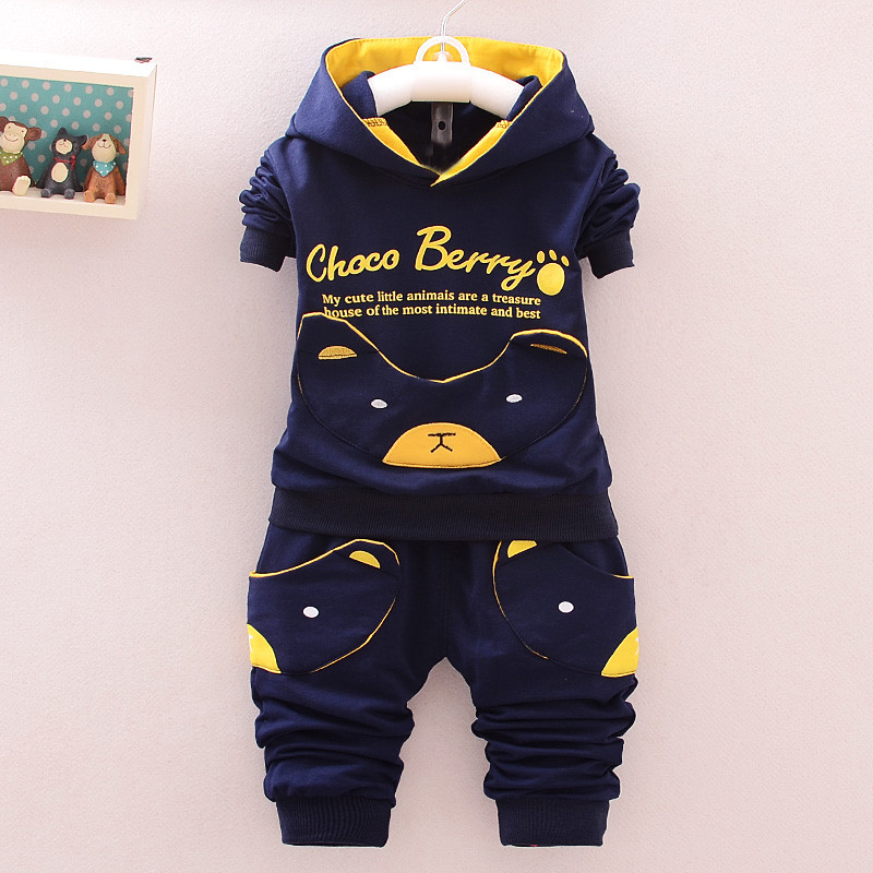 цена на BibiCola baby spring boy clothing sets hooded tops+pant sports suit infant boys clothes newborn baby boy clothes newborn outfit