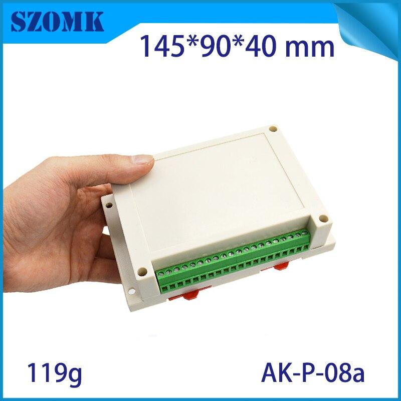 10 piece Black color 145 90 41mm Plastic din rail enclosures plastic box for electronic project