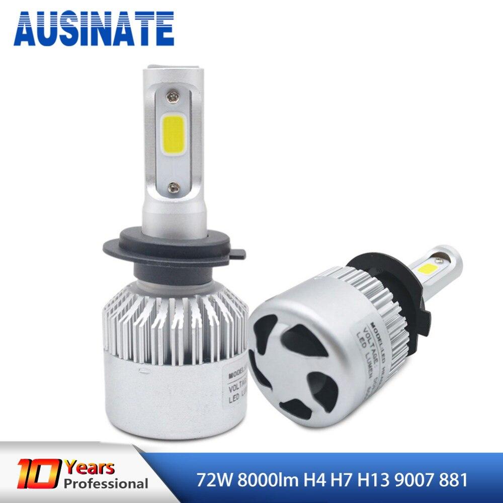 2 Adet H4 LED H7 H13 9007 881 Araba Led Far 72 W 8000LM Hi / Lo - Araba Farları - Fotoğraf 1