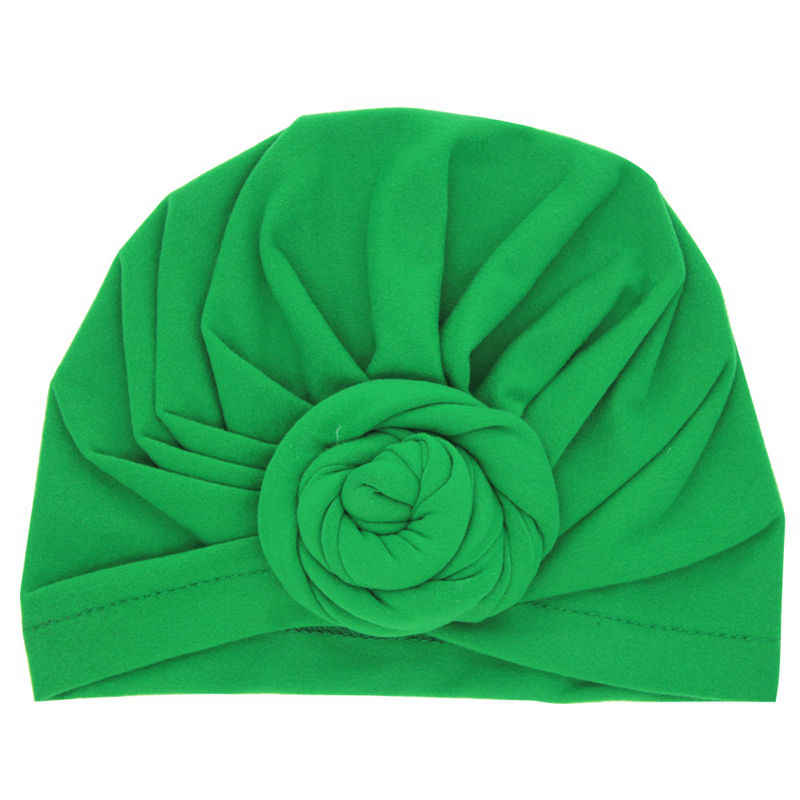... Bnaturalwell Newborns Turban Flower Baby Cute Hat Vintage Style Top  Knot Turban Headwrap Infant Soft Beanie d7c09fd05e9d