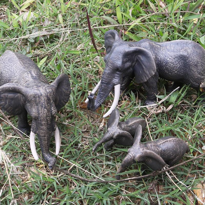 PräZise 1 Stücke 4,5*2*3,5 Cm Afrikanischer Elefant Tier Kunststoff Modell Vivid Geburtstag Geschenk Kinder Lieblings Frühen Bildung Spielzeug