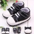 2015 moda fresco negro zapatos de bebé infantil recién nacido zapatos de deporte primeros caminante niños Casual zapatos zapatillas de chicos