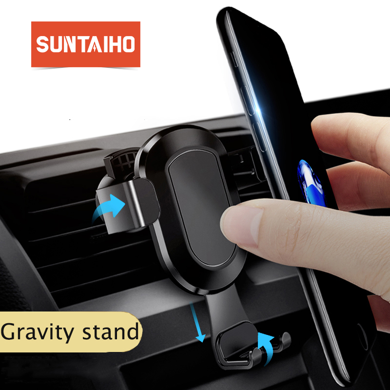 Suntaiho Car Phone Holder Air Vent Mount Gravity Car Holder For Samsung s9 s8 for Huawei p20 Phone Car Holder Support Smart phon