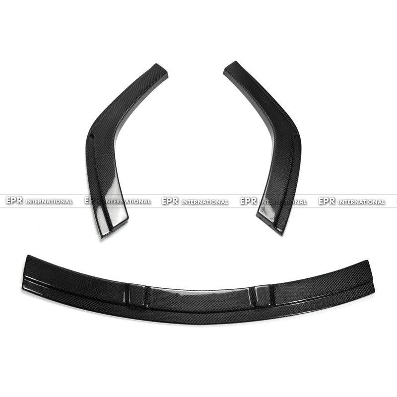 Углерода Волокно под губ (3 шт.) автомобиль Средства для укладки волос гонках отделкой подходит для 06 11 fd2 Civic Mugen RR