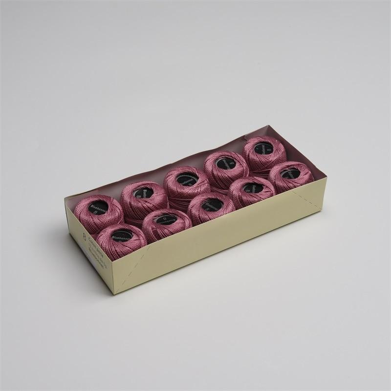 Размер 8 жемчужная хлопковая нить для вышивки крестиком 43 ярдов(5 грамм) на шарик Двойной Мерсеризованный длинный штапельный хлопок 10 шариков в цвет - Цвет: 717