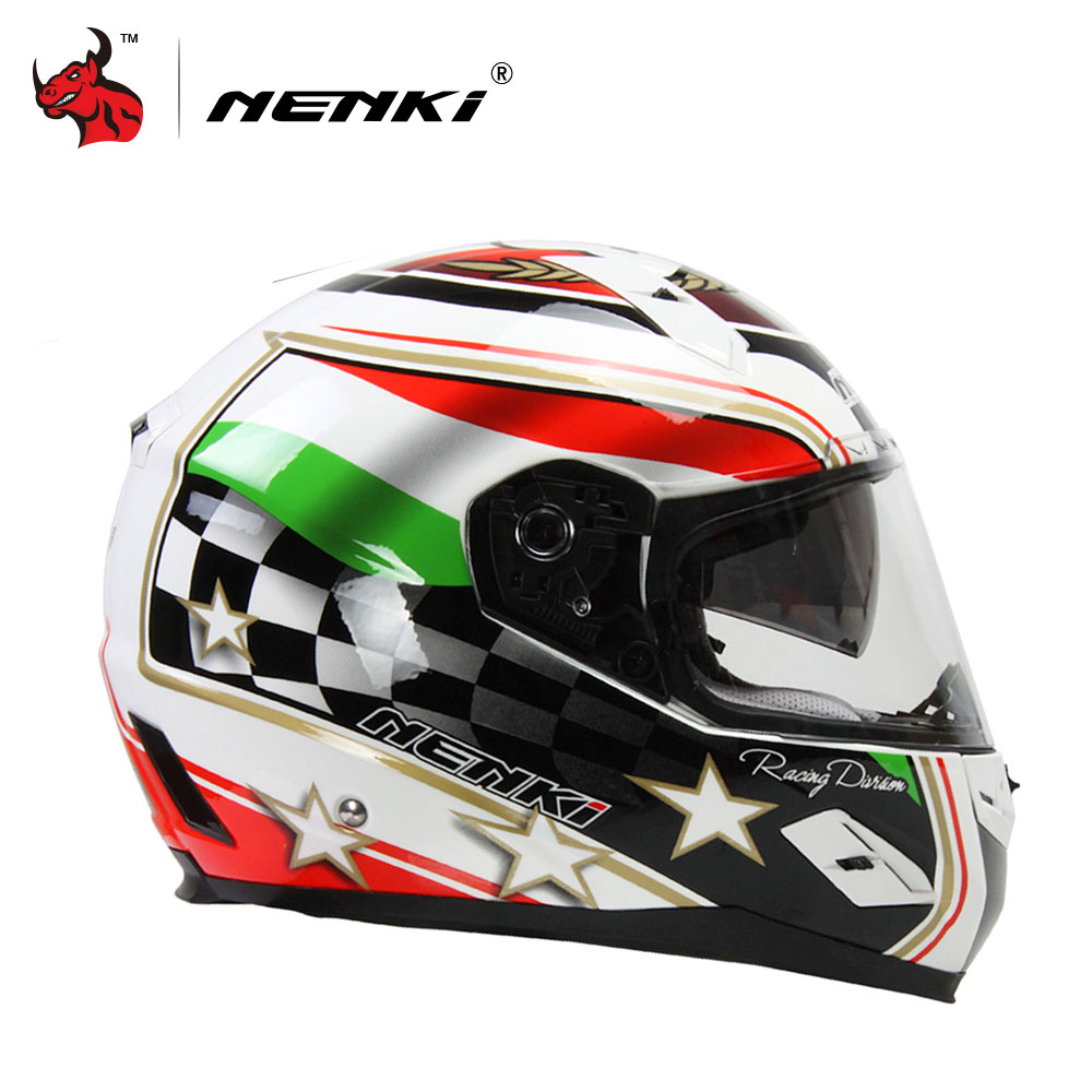 NENKI Motorcycle Helmet Motorcycle Full Face Riding Helmet Moto Helmets Road Motobike Helmet Casque Moto DOT