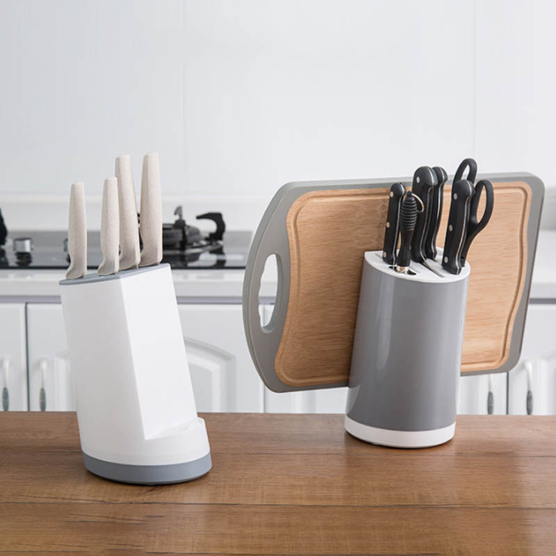 Multifunctional ABS Knife Stand Tool Rest Knife Blocks Holder 1PC Cutting Board Storage Rack Phone Holder Kitchen Accessories