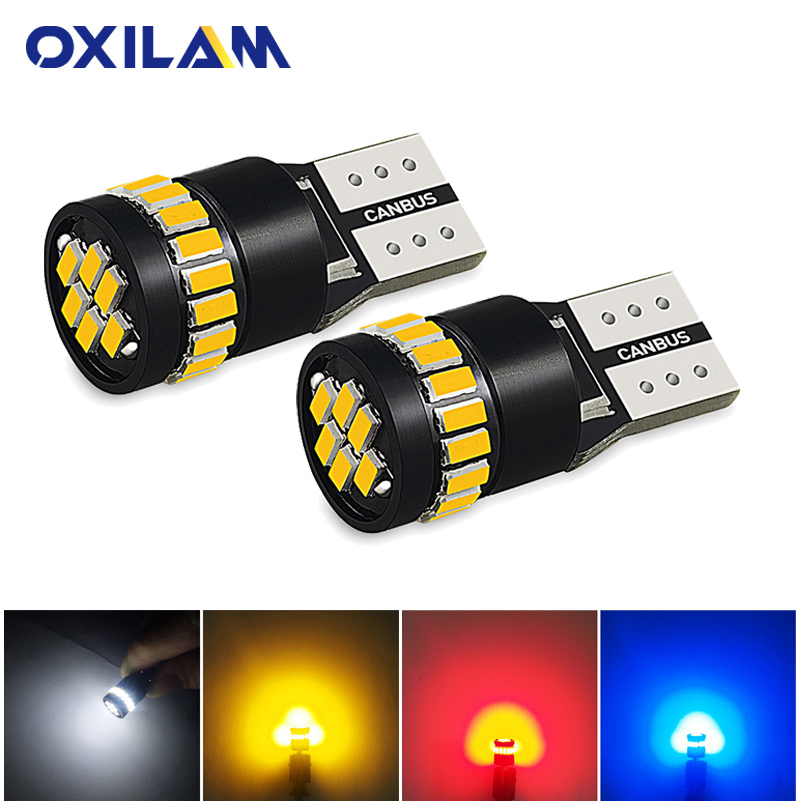 OXILAM 2x T10 W5W Canbus LED Bulb Parking Light for <font><b>Volvo</b></font> V50 <font><b>S60</b></font> S40 S80 V70 XC70 XC60 XC90 Door Lamp Auto Interior Lighting image