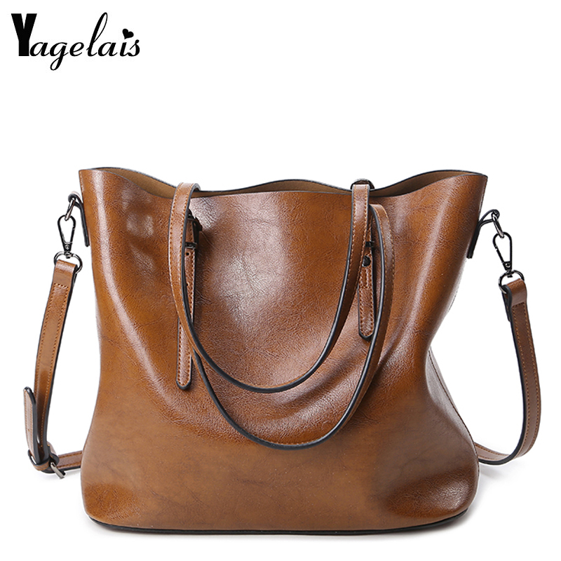 Ladies Brand Leather Handbags Spring Casual Four Colours Tote Bag Big Shoulder Bag For Ladies Messenger Bags tote bag