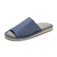 Men Warm Home Indoor Floor Linen Flat Slippers Men's Autumn Winter Soft Comfortable Shoes Footwear