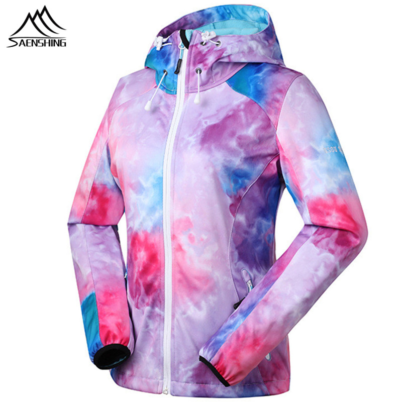 SAENSHING Gsou Snow Waterproof Softshell Jacket Women's Windbreaker Spring Breathable Outdoor Hiking Jacket Warm Fleece Coats 2017 new camel outdoor spring summer skin clothing girls waterproof breathable windbreaker sun protective jacket a7s1u7178
