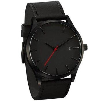 цена на Reloj 2019 Fashion Large Dial Military Quartz Men Watch Leather Sport Watches Relogio Masculino High Quality Clock Wrist watches