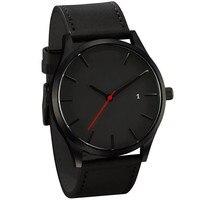 Reloj 2019 moda grande dial militar relógio de quartzo dos homens de couro esporte relógios relogio masculino alta qualidade relógio de pulso relógios|Relógios de quartzo| |  -