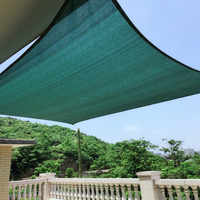 4x5 м/шт прямоугольная Солнцезащитная паруса 95% затенение УФ-защите полиэтилена повышенной плотности теневая сетка для жилых бассейнов тент