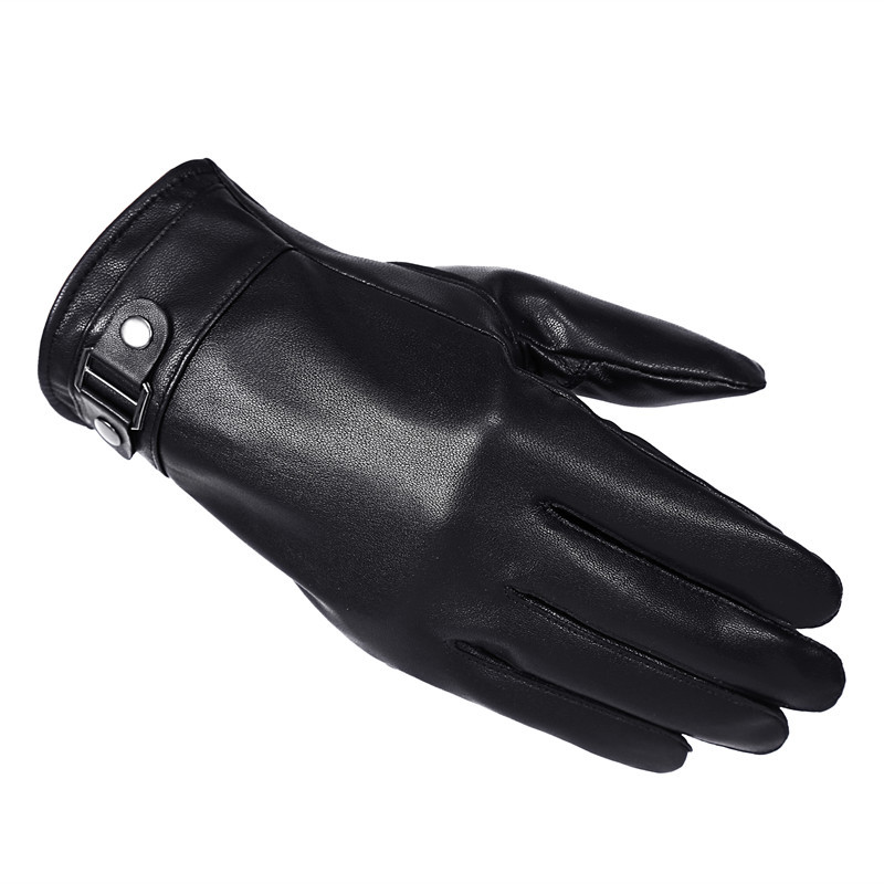 2018 Men Genuine Leather Gloves Winter Warm Lining Gloves Male Glove Driving Gloves Touch Screen Mittens